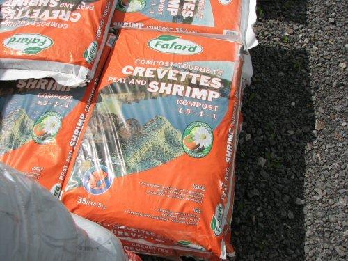 Compost tourbe et crevettes